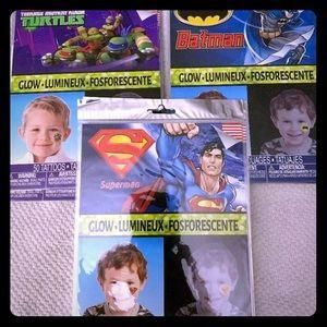 temporary tattoo TMNT Superman Batman 50 each pack